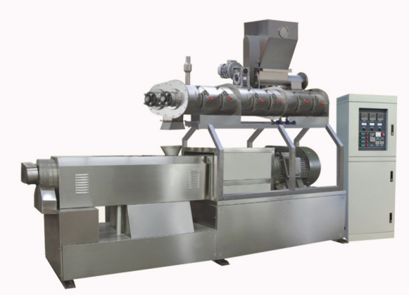 Series puffed food extruder
